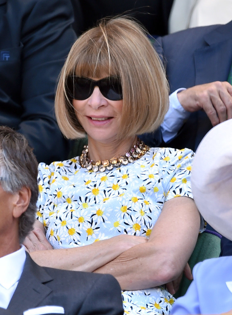 Anna Wintour went with a floral dress.