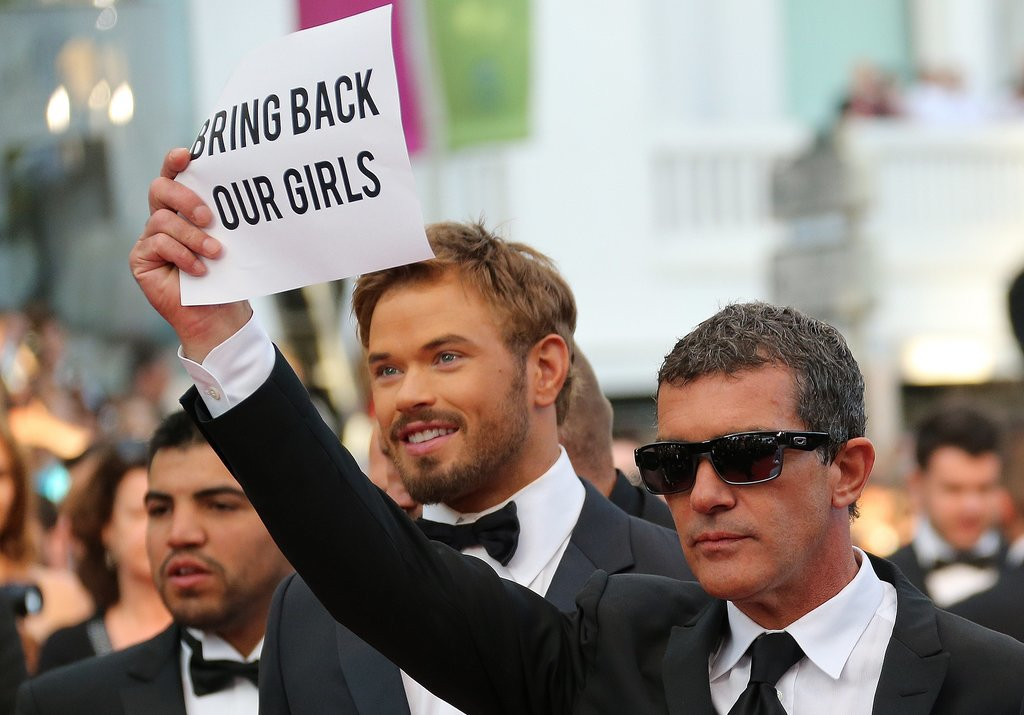 During the Cannes Film Festival in May, Antonio Banderas showed his support.