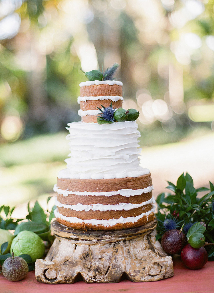 Rustic Bare Wedding Cake