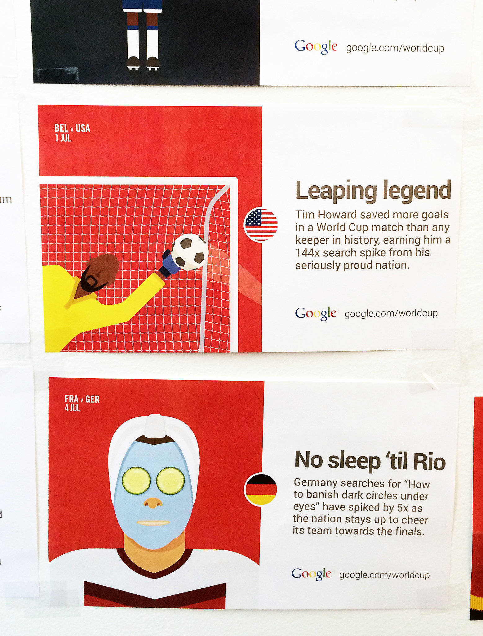 "A team favorite is the ""Leaping Legend"" — aka when US goalie Tim Howard proved he had superhuman strength."