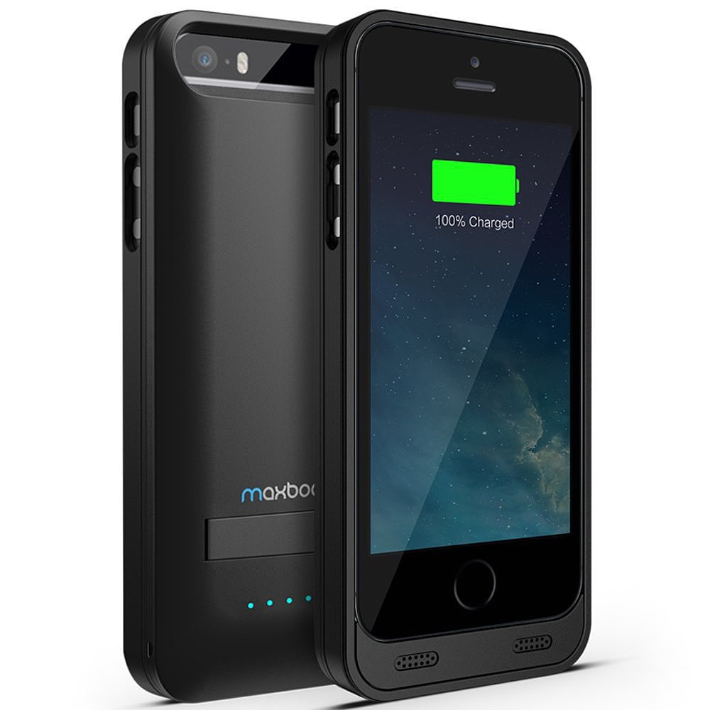 The Maxboost Protective Battery Case ($50, originally $100), for iPhone 5/5S can be switched on or off even when using the case, so that you're not constantly draining the extra charge.