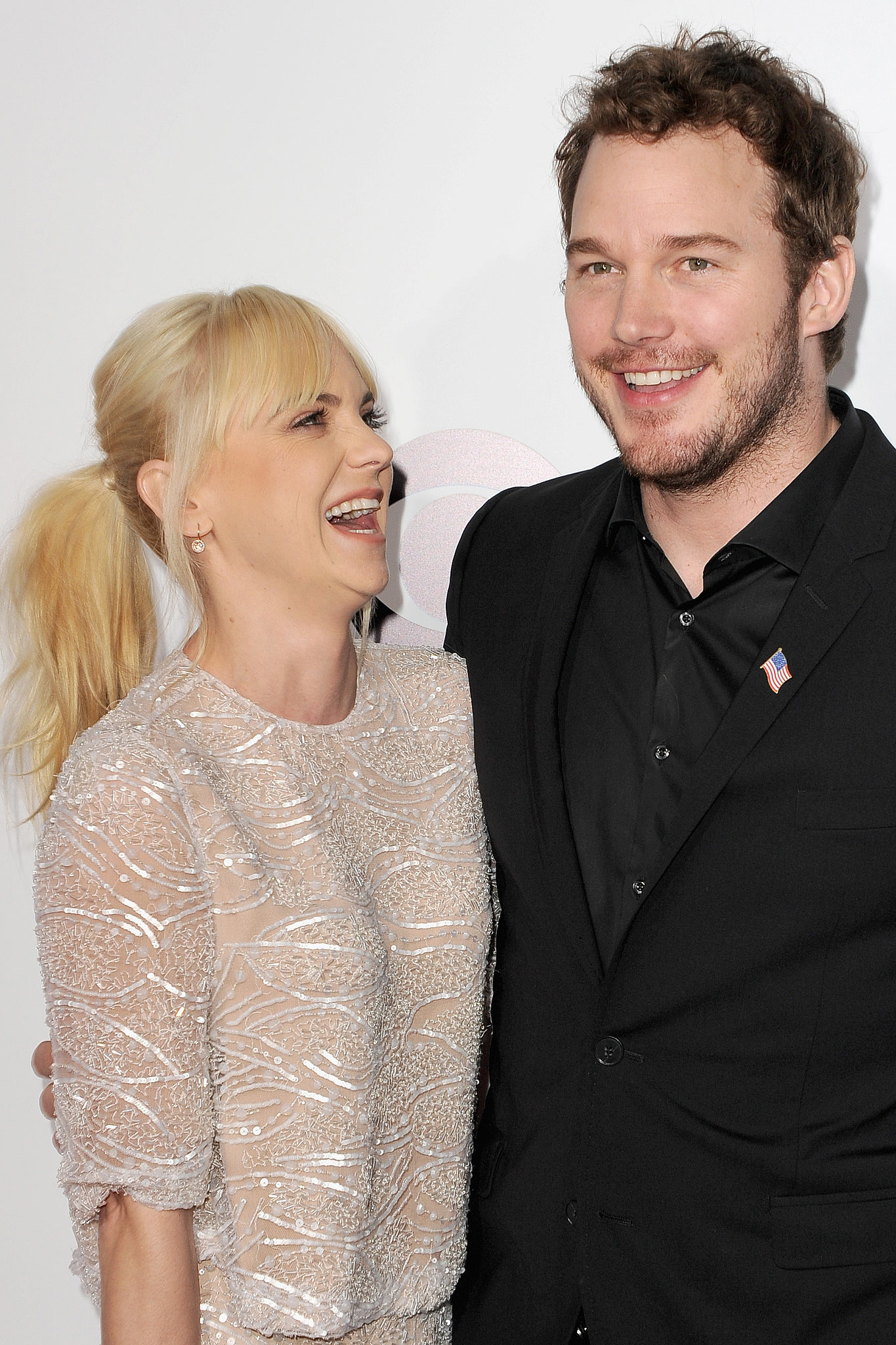 Anna and Chris shared a laugh at the 2014 People's Choice Awards in LA.