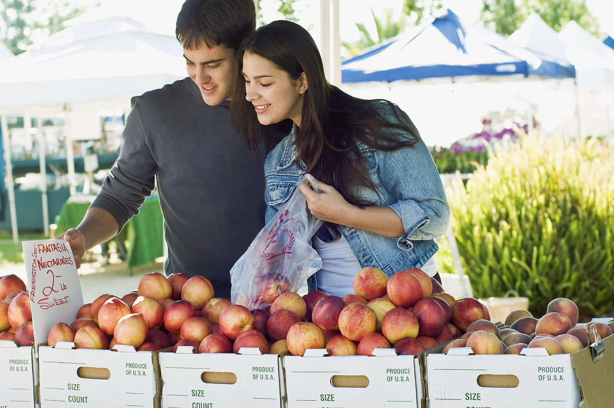 Turn fruit shopping into social hour.