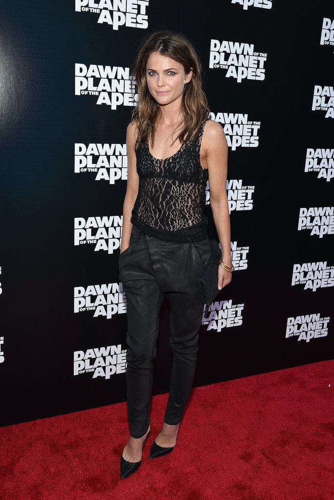 Keri Russell stunned at the NYC premiere of Dawn of the Planet of the Apes on Tuesday.