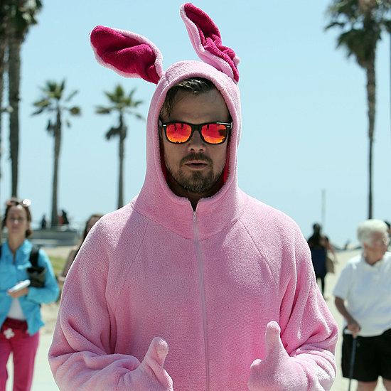 Josh Duhamel Dressed as Pink Bunny at Venice Beach | Picture