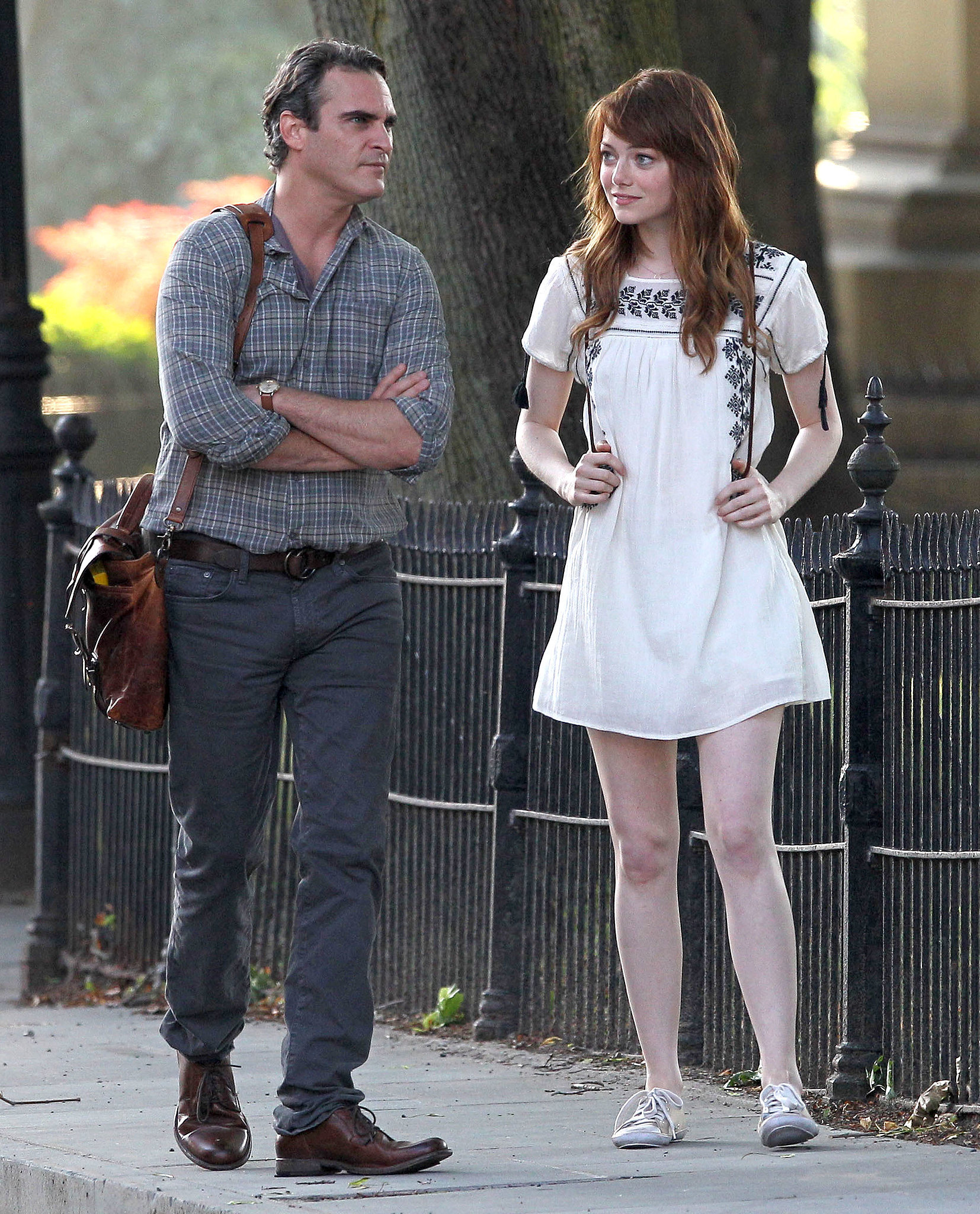 First Look at Emma Stone and Joaquin Phoenix in Woody Allen's Next Film