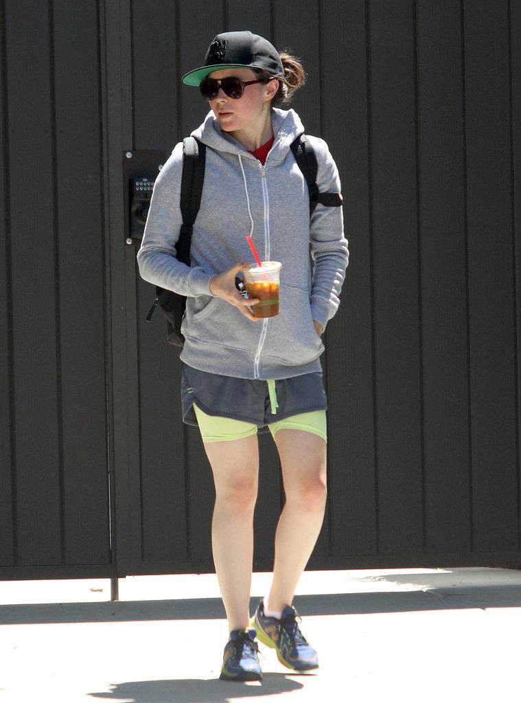 Ellen Page fit in a workout in LA on Friday.