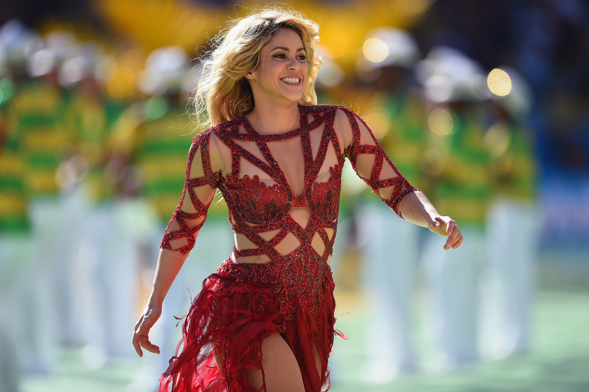 Shakira performed ahead of the 2014 World Cup final.
