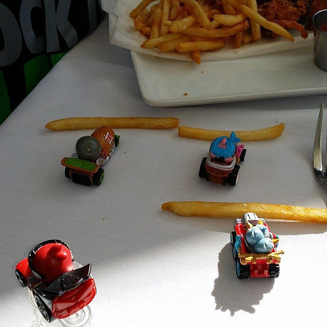 Angry Bird French Fry Tractor Pull