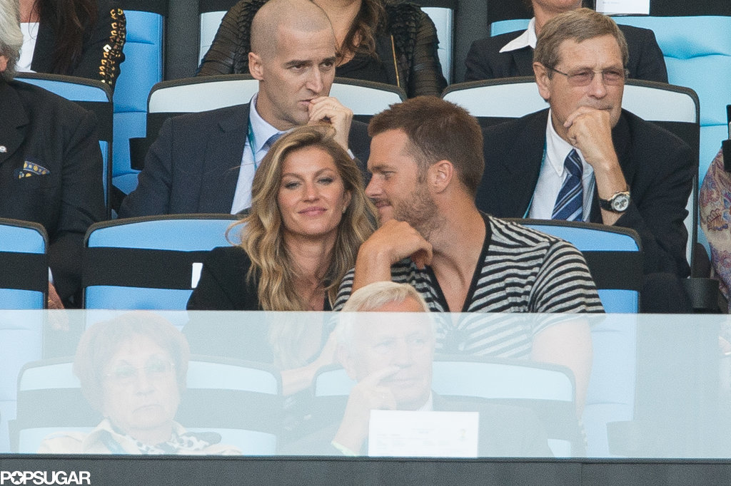 Gisele and Tom looked like they were having a good time.