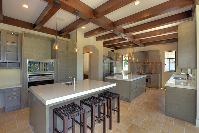 Not one but two islands fill this chef's kitchen.  Source: Trulia