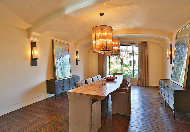 The dining room is large enough for family dinners.  Source: Trulia