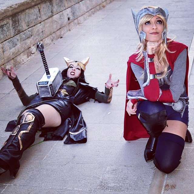 Lady Loki is no match for lady Thor!