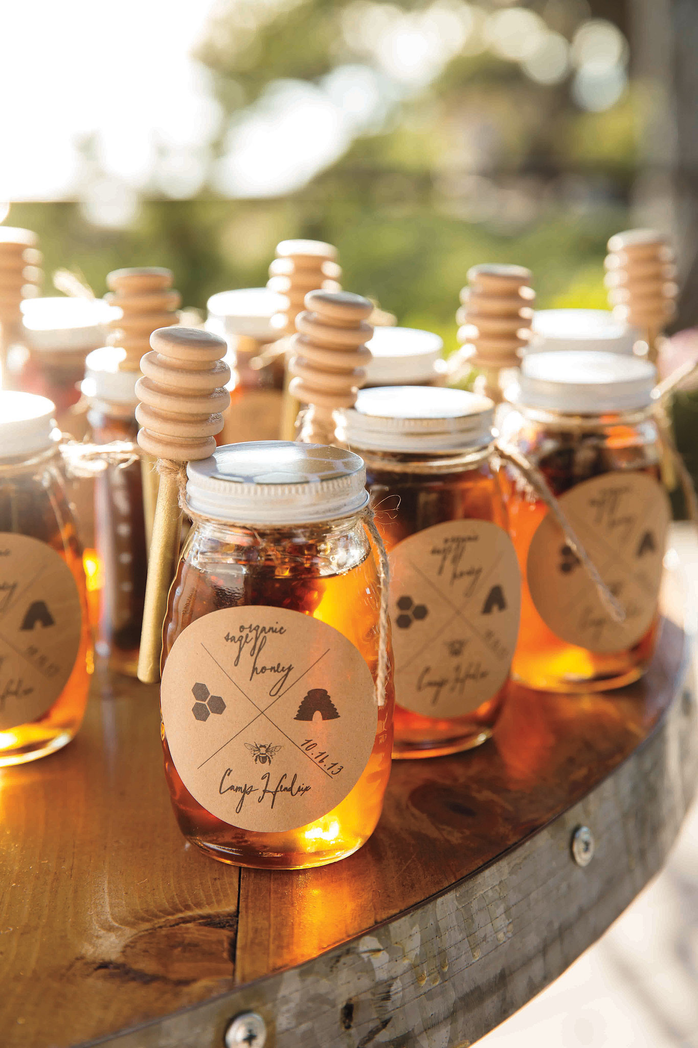 Handmade organic honey favors