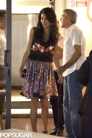 George and Amal Put the Drama Behind Them For a Romantic Date Night