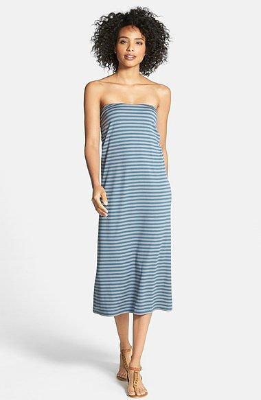 Calson Striped Convertible Maxi Skirt