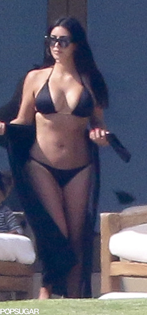 Surprisingly, Kim Kardashian Managed to Keep Her Latest Bikini Trip SFW