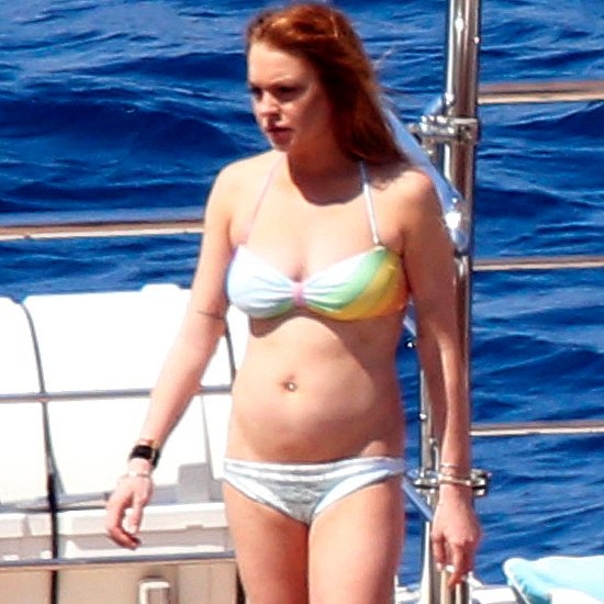 Lindsay Lohan in a Bikini on a Yacht in Italy | Pictures