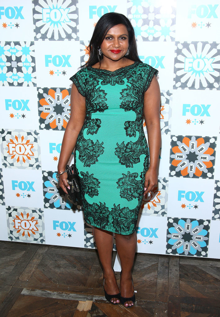 Mindy Kaling smiled at the Fox Summer TCA All-Star party on Sunday in LA.