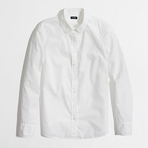 J.Crew Factory White Button-Down Shirt