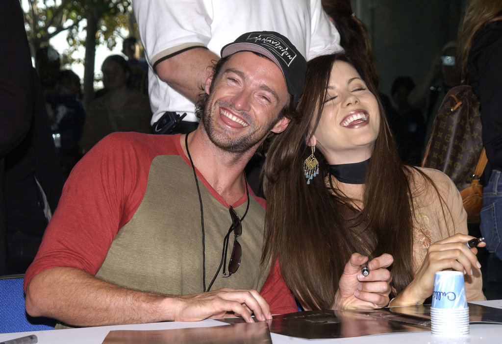 Hugh Jackman and Kate Beckinsale signed autographs together during the convention in 2003.