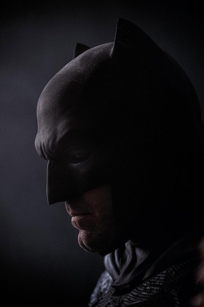 Director Zack Snyder tweeted this picture of Affleck as Batman in honor of Batman's 75th anniversary during Comic-Con.
