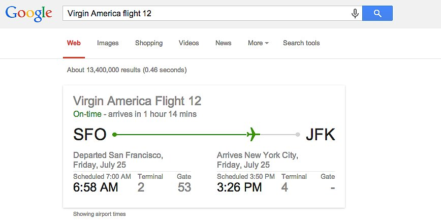 Update you on flight information