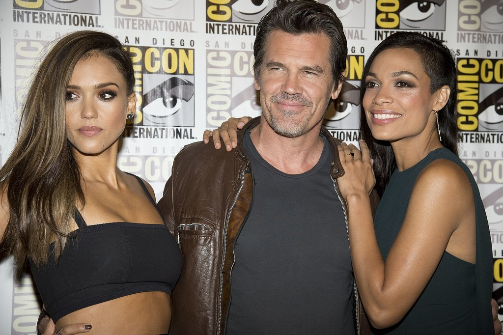 Josh Brolin got in on the red carpet fun with Jessica Alba and Rosario Dawson while promoting Sin City: A Dame to Kill For on Saturday.