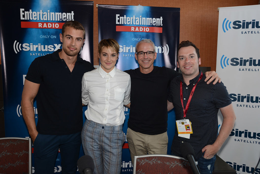 Theo James and Shailene Woodley popped up for an interview on SiriusXM's Entertainment Weekly Radio Channel on Saturday.