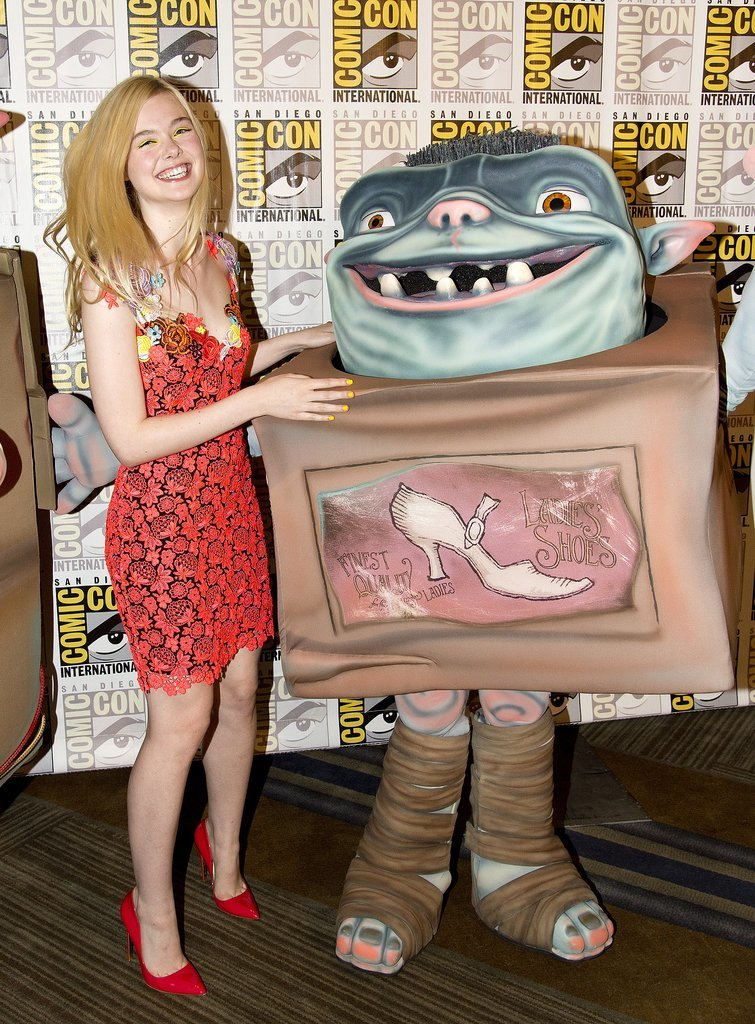 Elle Fanning got animated at the Boxtrolls event on Saturday.