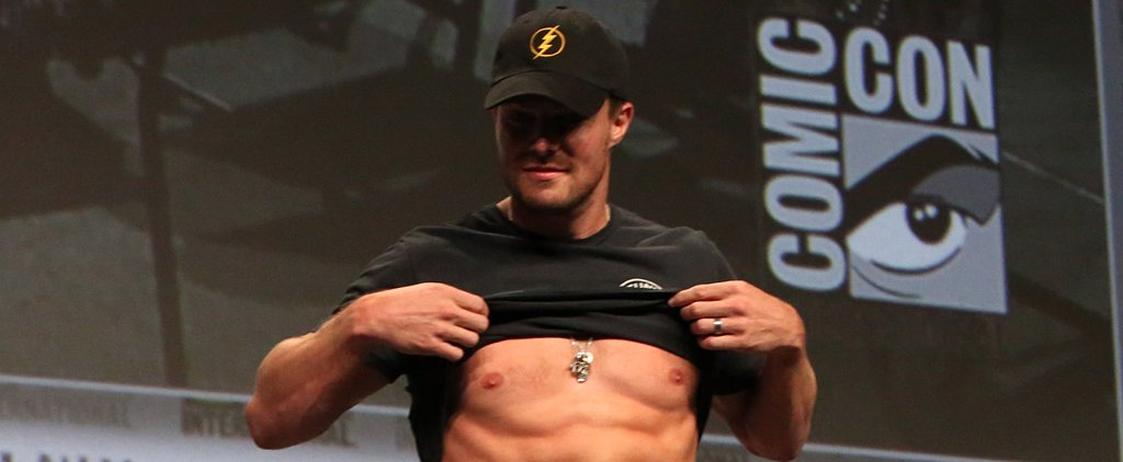 Stephen Amell Unleashes His Rock-Hard Abs at Comic-Con