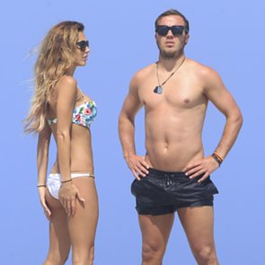 Mario Gotze and Ann-Kathrin Brommel on the Beach in Ibiza