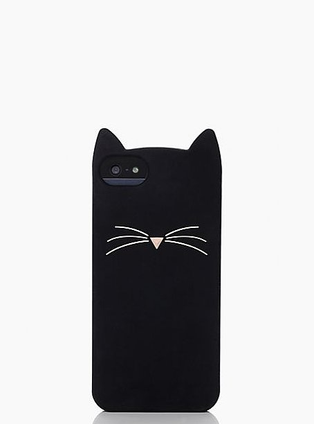 Kate Spade Black Cat Silicon iPhone 5 Case