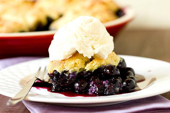Biscuit Blueberry Cobbler