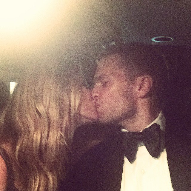 The duo kissed in the car after attending the Met Gala in 2014.