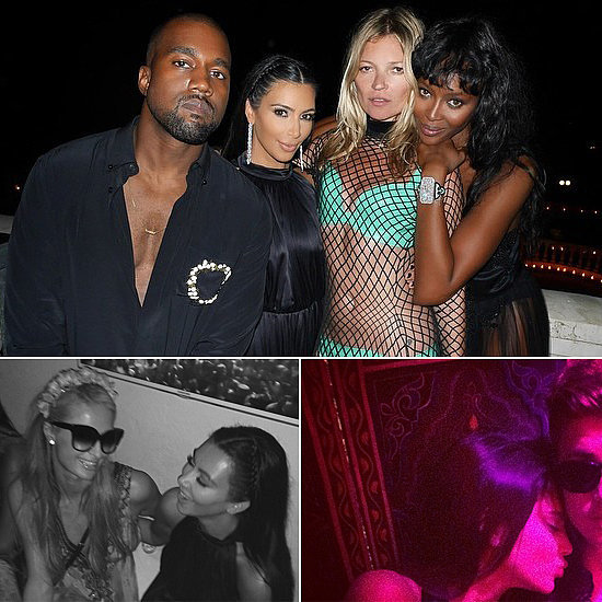 Kim Kardashian and Kanye West Party With Too Many Stars to Count