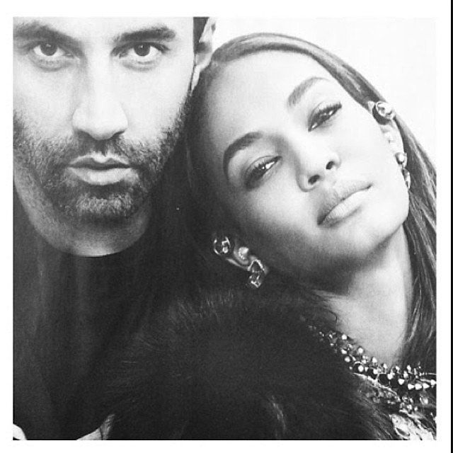 Riccardo Tisci and Joan Smalls