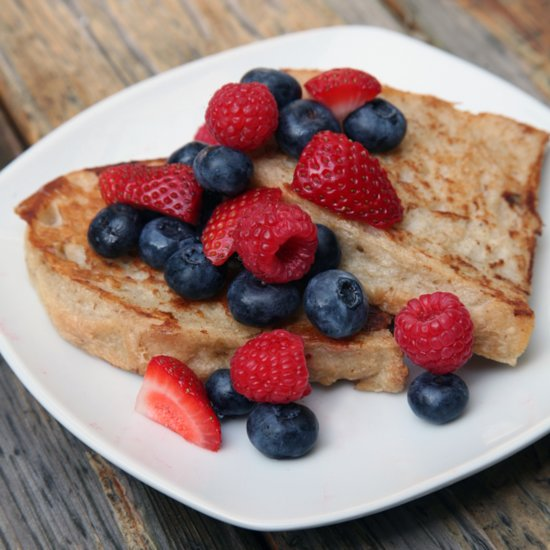 Vegan French Toast That Barely Breaks 100 Calories