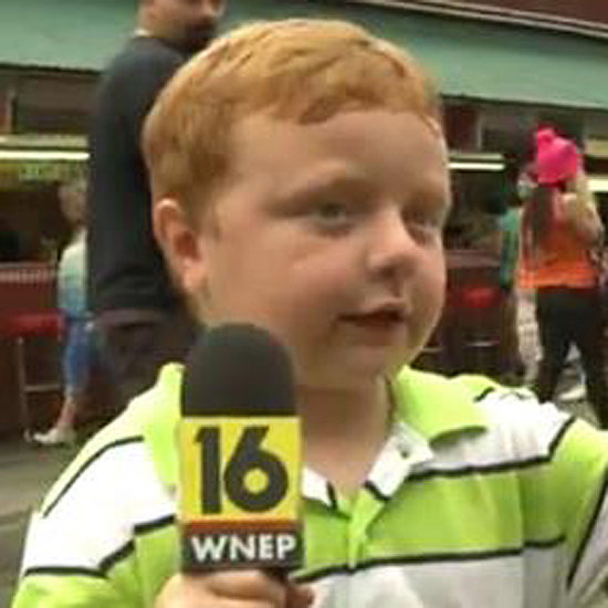 Kid on Local News Saying Apparently | Video