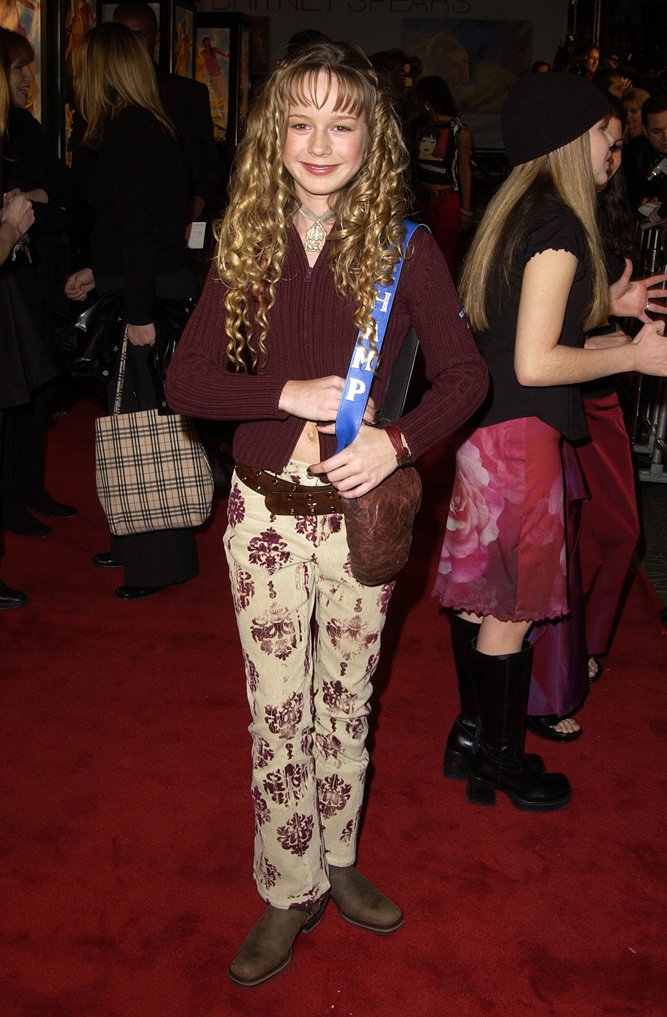 A young Brie Larson went with the flower-power look.