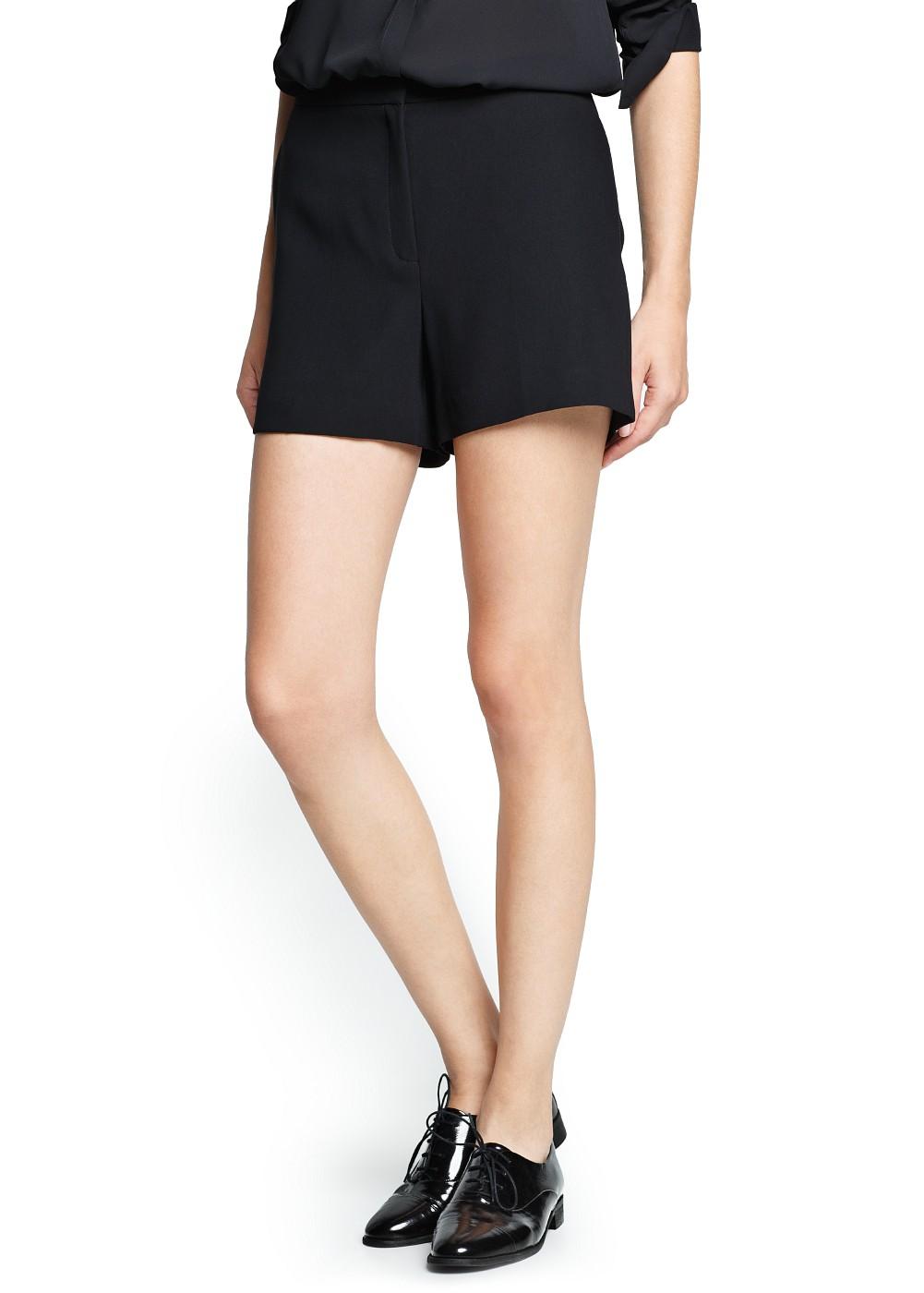 Mango High-Waisted Flowy Shorts
