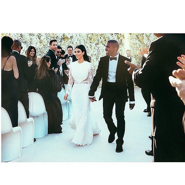 Kim Kardashian and Kanye West at Their May 2014 Wedding