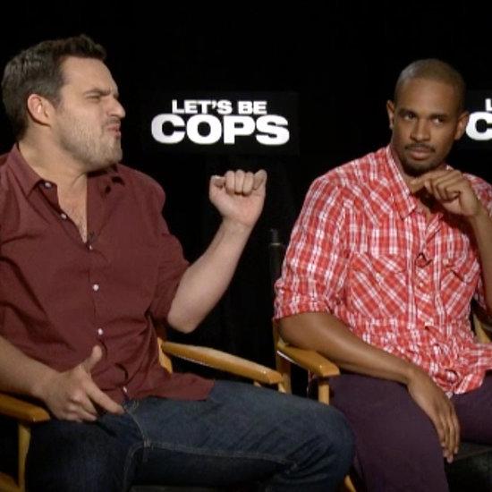 Let's Be Cops Cast Interview   Video