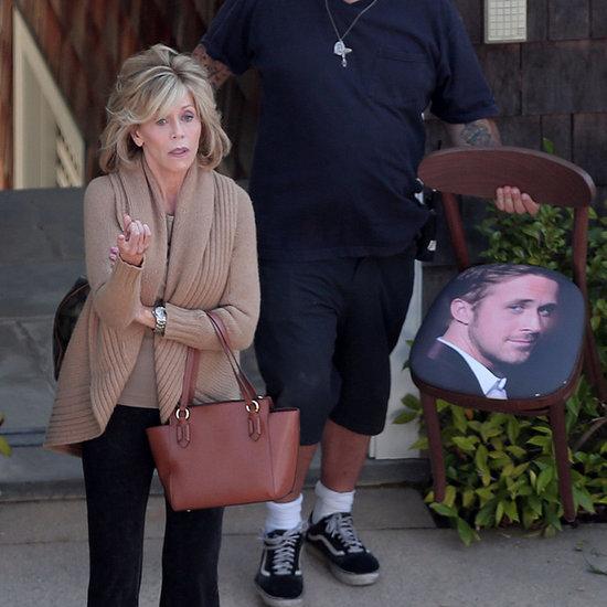 Jane Fonda With a Ryan Gosling Chair | Photos
