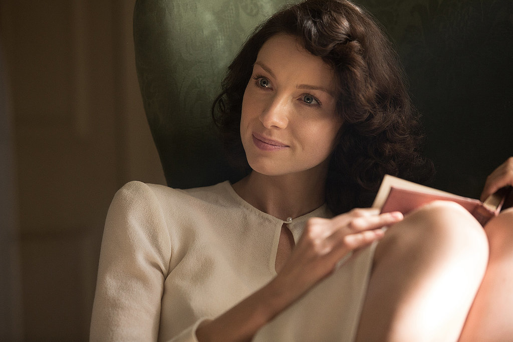 Claire looks beautiful before her time-traveling adventure. Courtesy of Starz