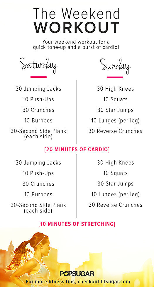 The Two-Part Weekend Workout
