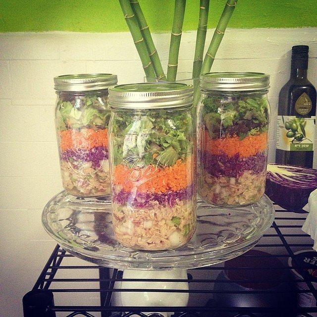Chicken Salad | 25 Salads in a Jar That Make Brown Bagging Fun ...