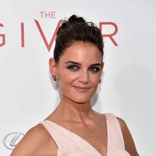 How To Copy Katie Holmes' Messy Top Knot Hairstyle