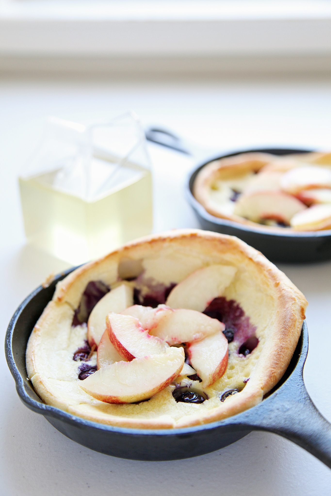 Blueberry-Nectarine Dutch Babies