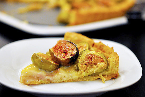 Fig Tart With Orange Blossom Custard